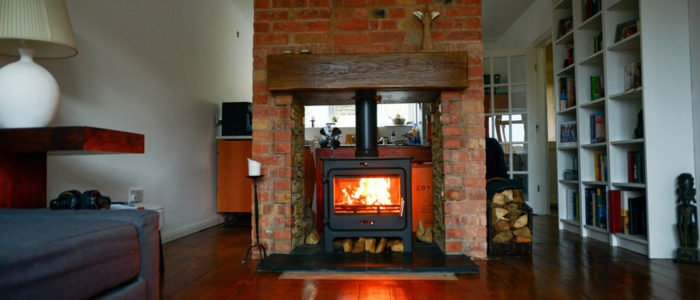 Building rebuilding fireplace, wood burning stove installation, re-plastering all walls